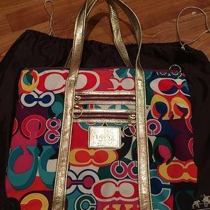 Glam Coach multicolor Tote Bag!